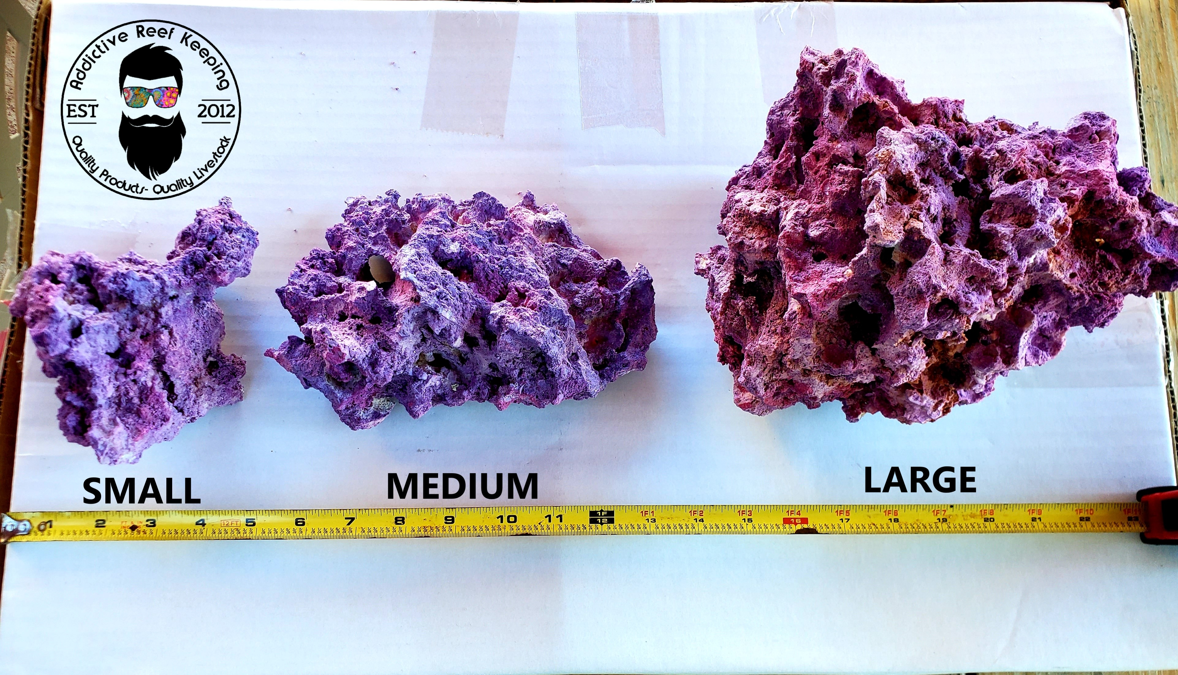 Great for Aquariums Live 25 lbs Med//Lrg Dry Reef Base Rock Lightweight Porous